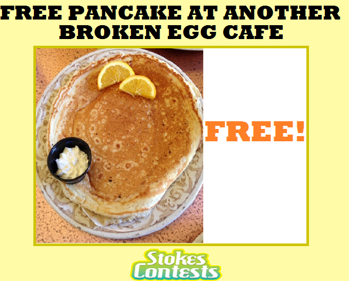Image FREE Pancake at Another Broken Egg Cafe on Your Birthday