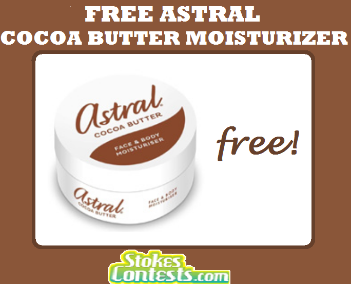 Image FREE Pot of Astral Cocoa Butter Moisturizer