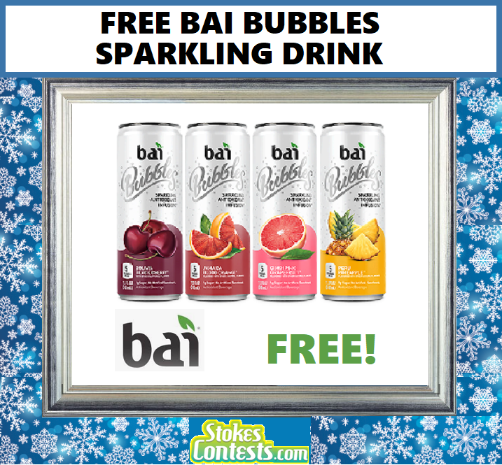 Image FREE Bai Bubbles Sparkling Water TODAY ONLY!