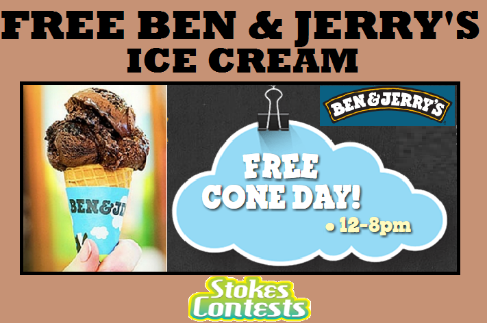 Image FREE Ice Cream Cone at Ben & Jerry's TODAY!