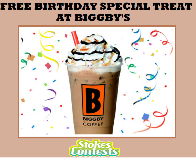 Image FREE Birthday Treat & Coupons at Biggby's