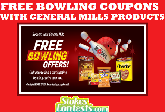 Image FREE Bowling Coupons with General Mills Products