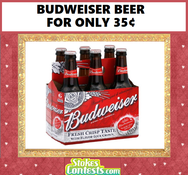 Image Budweiser Beer Pack for ONLY 35¢
