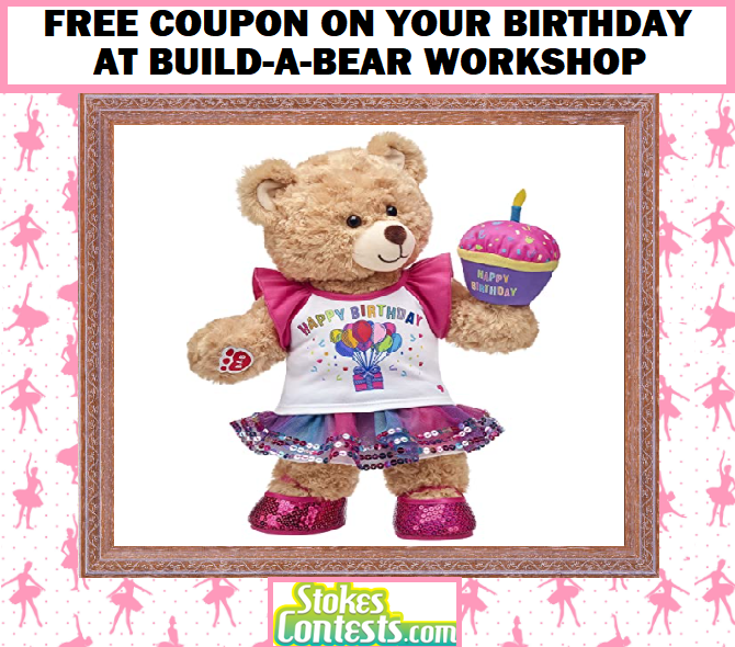 Image FREE Coupon On Your Birthday at Build-A-Bear Workshop