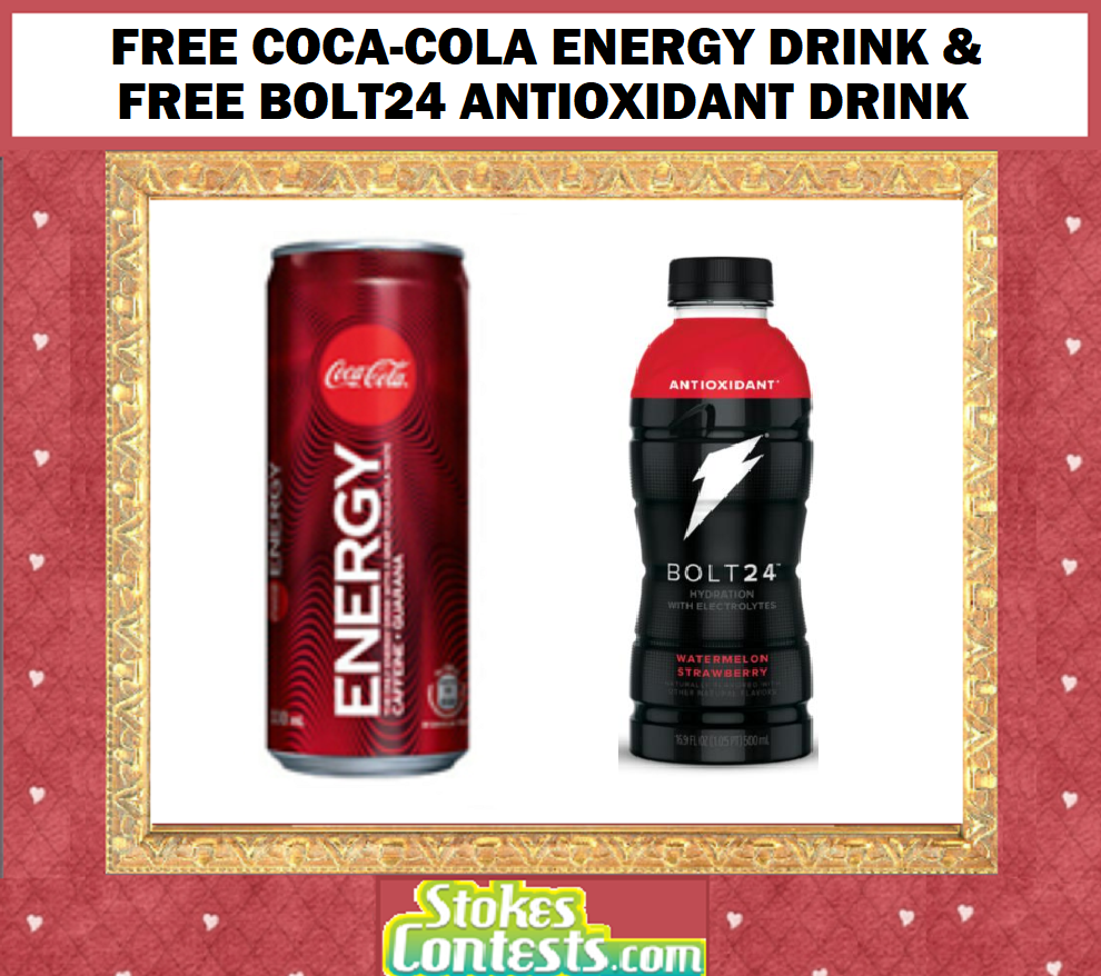 Image FREE Coca-Cola Energy Drink & FREE BOLT24 Antioxidant Drink