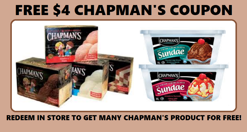 Image FREE Chapman's Ice Cream, Yogurt, or Sorbet..