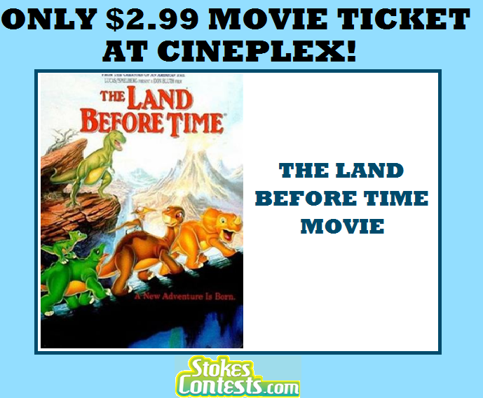 Image The Movie: The Land Before Time for ONLY $2.99 at Cineplex