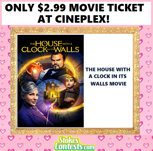 Image The House with a Clock in its Walls Movie for ONLY $2.99 at Cineplex!