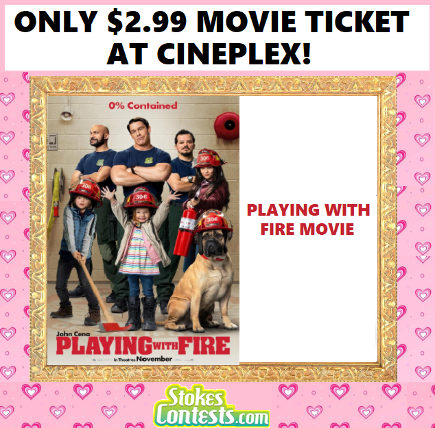 Image Playing with Fire Movie For ONLY $2.99 at Cineplex!