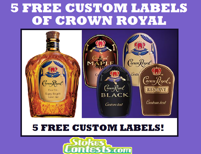 Image 5 FREE Personalized Crown Royal Labels