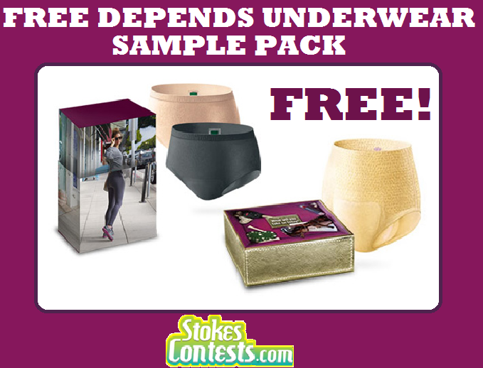 STOKES Contests - Freebie - FREE Depends Underwear Sample Pack