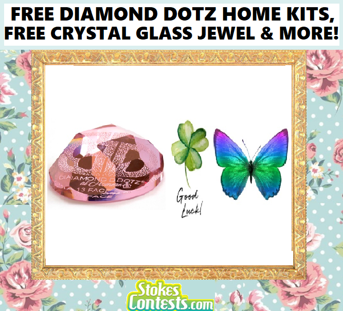 Image FREE Diamond Dotz Home KITS, FREE Optical Crystal Glass Jewel & MORE! VALUED AT $100+
