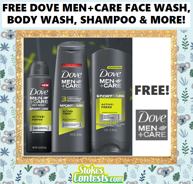 Image FREE Dove Men+Care Face Wash, Body Wash, Shampoo, Conditioner & MORE!