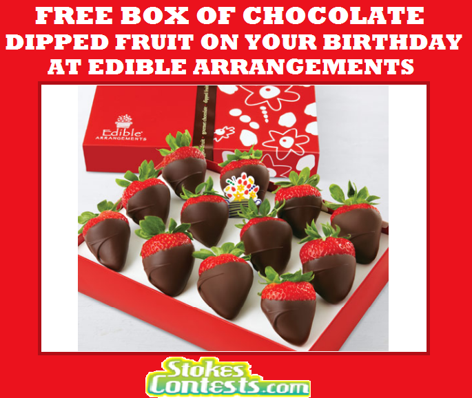 Image FREE Box of 12-ct Chocolate Dipped Fruit on Your Birthday at Edible Arrangments