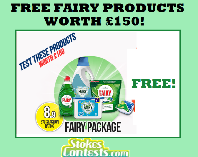 Image FREE Fairy Laundry Products Worth £150