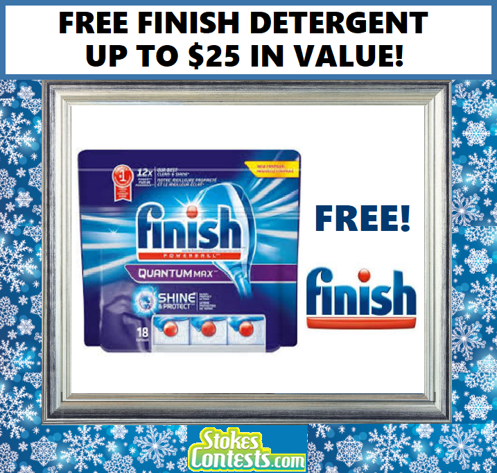 Image FREE Finish Dishwasher Detergent Up to $25 Value!