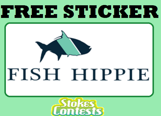 Stokes contests freebie free fish hippie sticker for Free fishing stickers