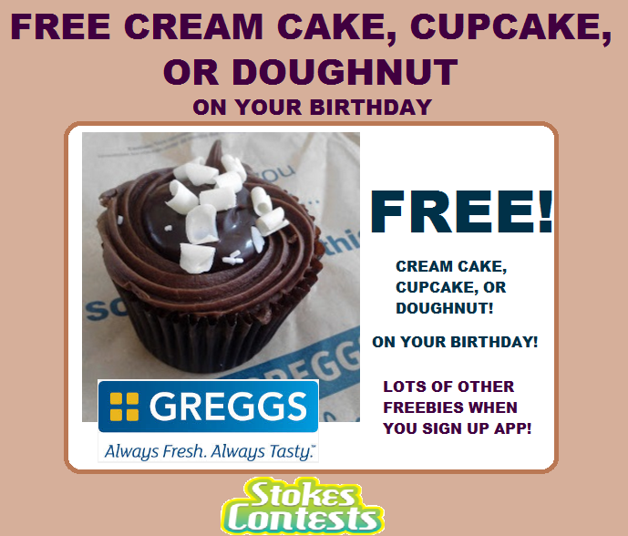 Image FREE Cream Cake, Cupcake, Doughnut & More! on Your Birthday