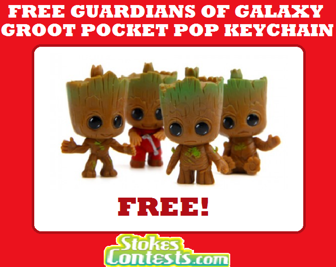 Image FREE Guardian of the Galaxy Groot Pocket Pop Keychain