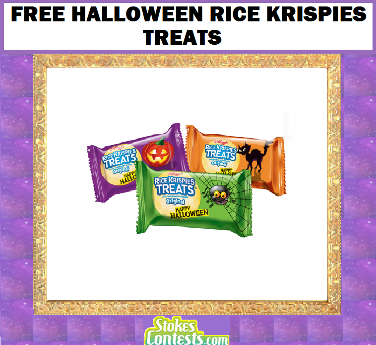 Image FREE Halloween Rice Krispies Treats