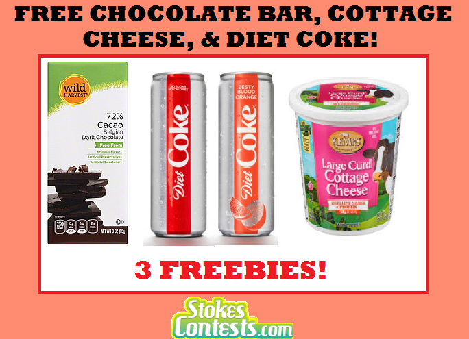 Image FREE Chocolate Bar, FREE Cottage Cheese & FREE Diet Coke! TODAY ONLY!