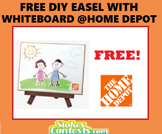 Image FREE DIY Easel with Whiteboard @Home Depot