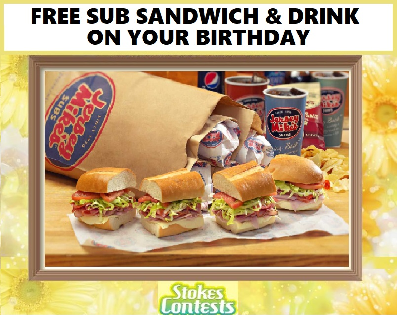 Image FREE Sub & Drink on your Birthday @Jershey Mike's