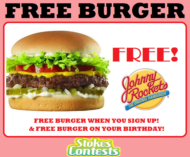 Image FREE Burger from Johnny Rockets