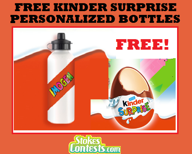 Image FREE Kinder Surprise Personalized Drink Bottle