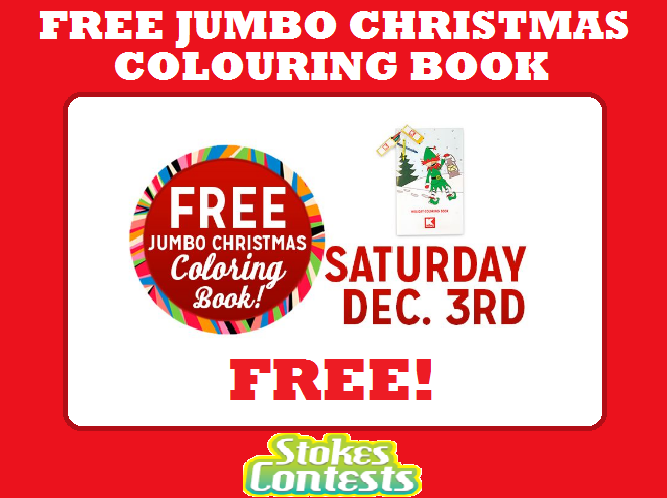 TOMORROW ONLY On December 3 2016 FIRST 100 KIDS Kids 12 And Under Get A FREE Jumbo Christmas Colouring Book At KMart Try To Show Up Early For This