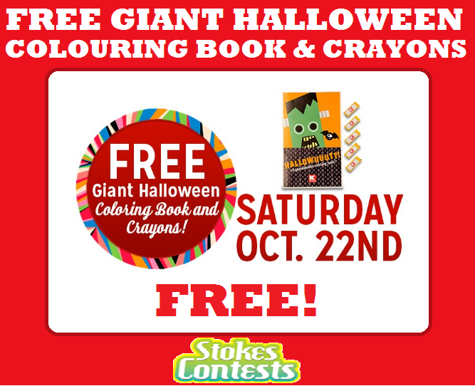 Kids 12 And Under Get A FREE Giant Halloween Colouring Book Crayons At KMart Try To Show Up Early For This