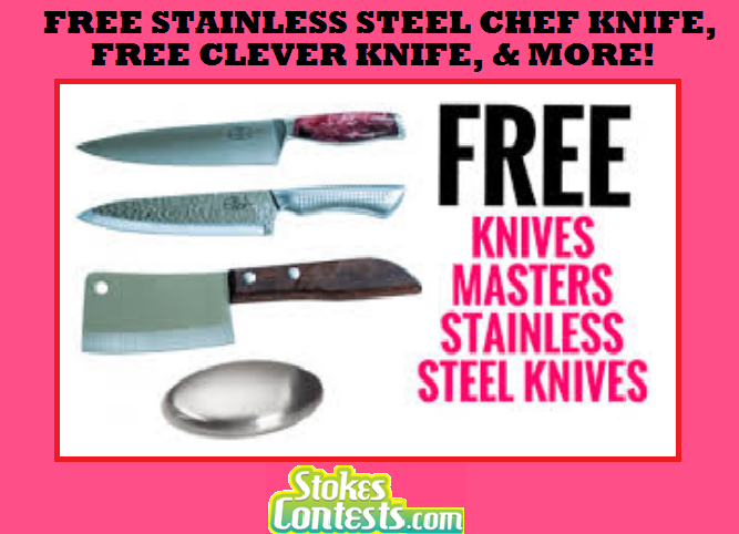 Image FREE Stainless Steel Chef Knife, FREE Clever Knife & MORE!