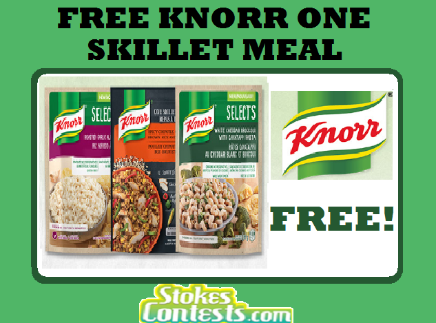 Image FREE Knorr One Skillet Meals! TODAY ONLY!