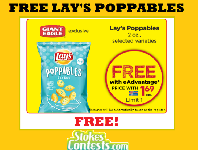 Image FREE Lay's Poppables