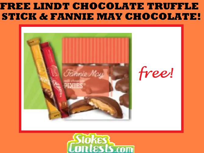 Image FREE Lindt Chocolate Truffle Stick & FREE Fannie May Chocolate! TODAY ONLY!