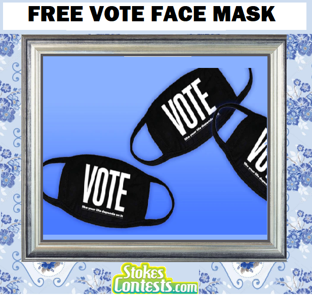Image FREE Vote Face Mask