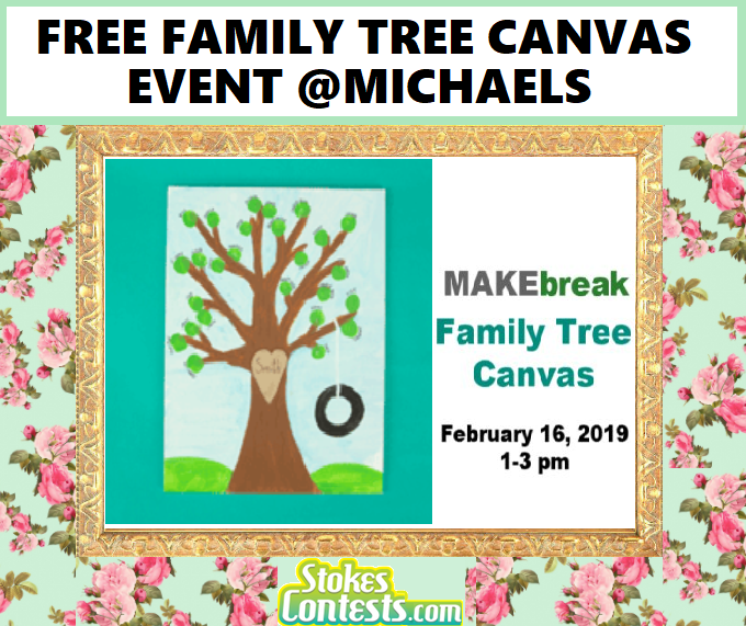 Image FREE Family Tree Canvas Event @Michaels