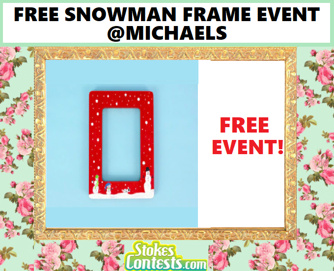 Image FREE Snowman Frame Event @Michaels