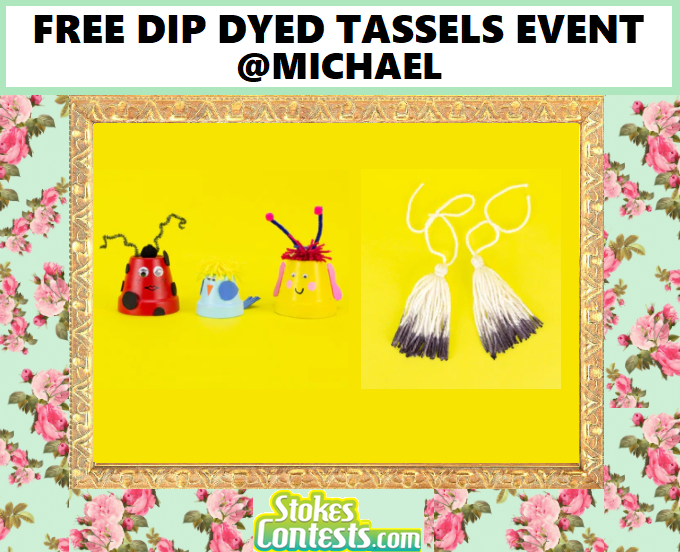 Image FREE Dip Dyed Tassels Event @Michaels