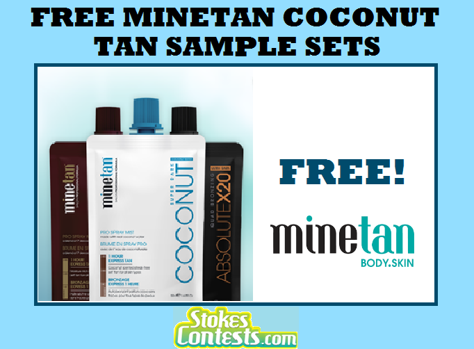 Image FREE MineTan Coconut Tan Sample Set
