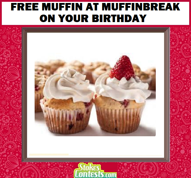 Image FREE Muffin on Your Birthday at Muffinbreak
