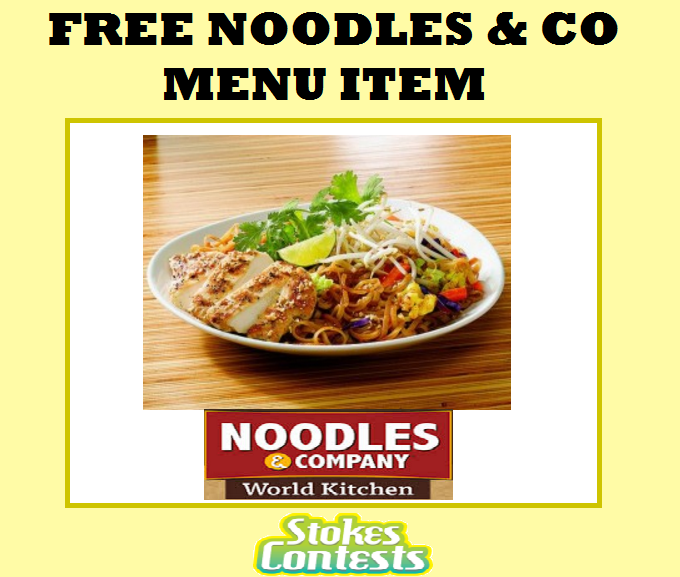 Image FREE Noodles & Co Menu Item on You Birthday
