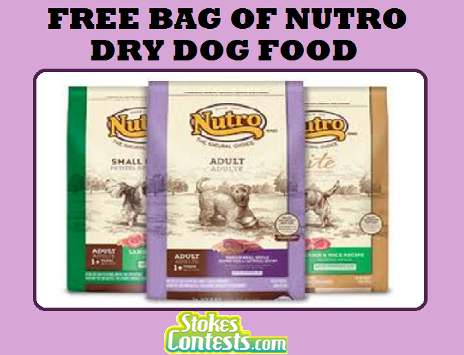 Image FREE Bag of NUTRO Dry Dog Food (4 lb or 5 lb) TOMORROW ONLY!