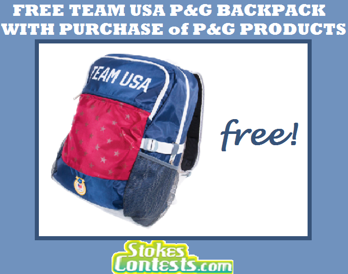 Image FREE Team USA P&G Backpack with Purchase of P & G Products