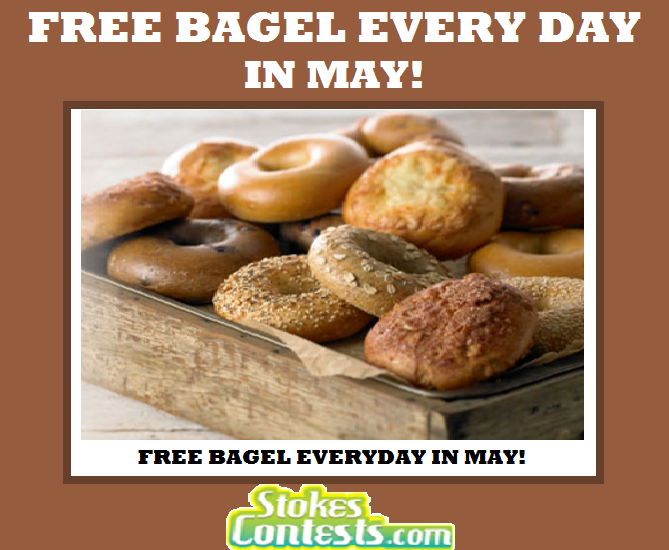 Image FREE Bagel Every Day in May! at Panera Bread