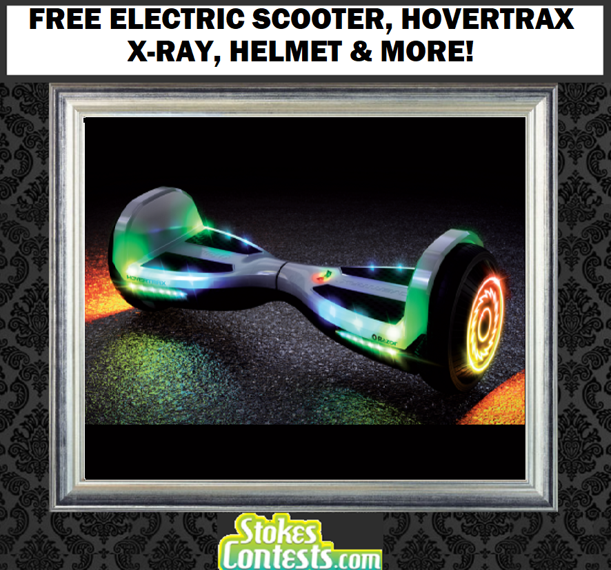 Image FREE Razor Electric Scooter, Hovertrax X-Ray, Helmet & MORE!