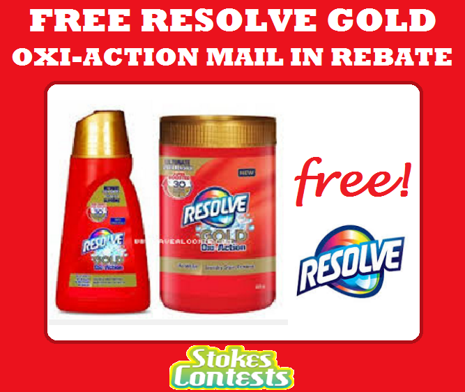 Image FREE Resolve Gold Oxi-Action Mail in Rebate