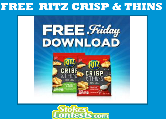 Image FREE Ritz Crisp & Thins TODAY ONLY!