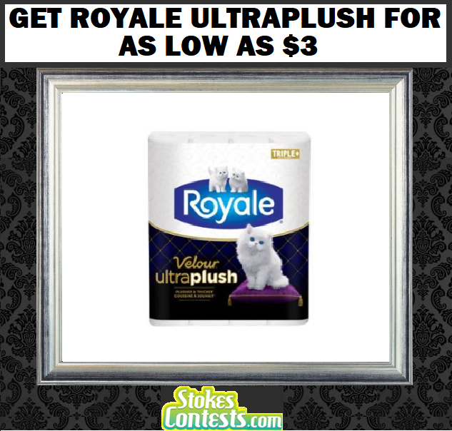 Image Get Royale UltraPlush Bathroom Tisuue as Low as $3