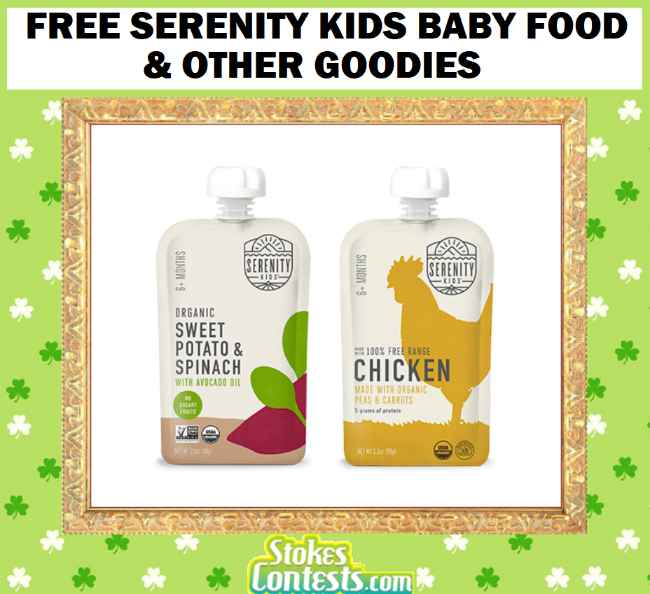 Image FREE Serenity Kids Baby Food & Other Goodies!